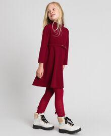 Robe en crêpe avec ceinture Rouge Ruby Wine Enfant 192GJ2452-02
