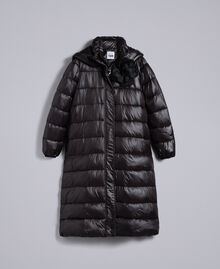 Long nylon padded jacket Black Woman YA82AB-0S