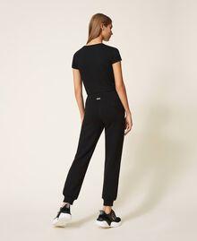 Pantalon de jogging en scuba Noir Femme 202LI2JNN-03