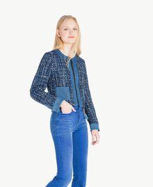 Bouclé jacket Multicolour Lapis Blue Woman JS82MD-02