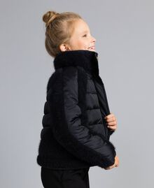 Short knit and nylon padded jacket Black Child GA82A4-02