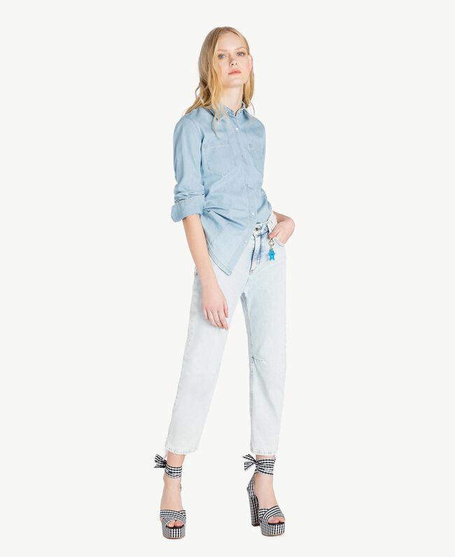 Girlfriend jeans Denim Blue Woman JS82WR-05