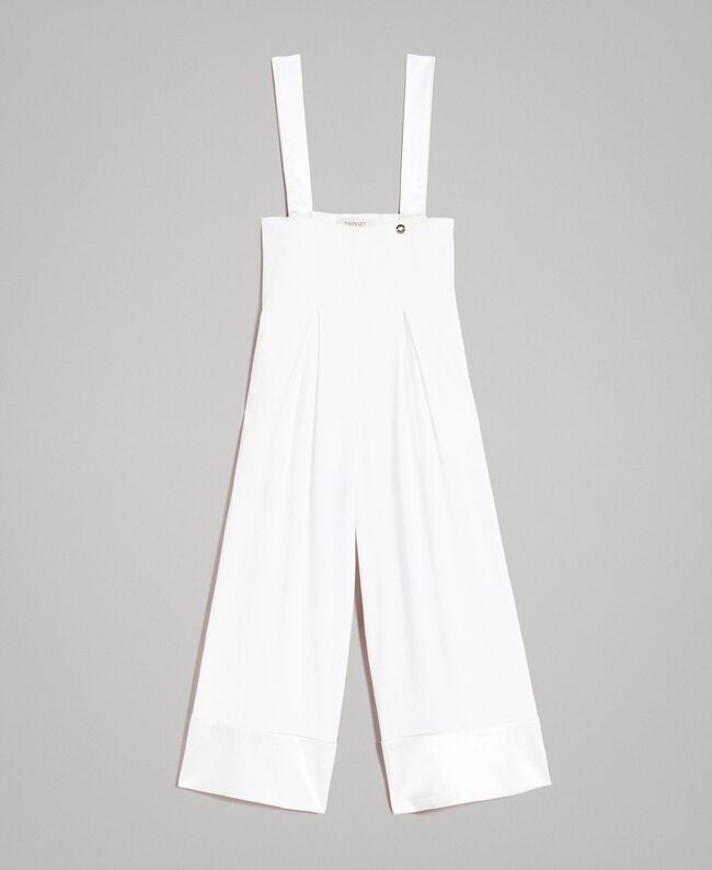 Georgette and satin jumpsuit Off White Child 191GJ2QJ0-01