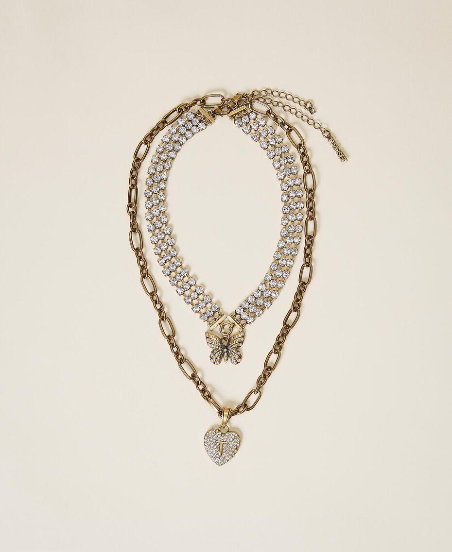 Collier ras-de-cou avec pendentifs Cristal Femme 202TO5047-02
