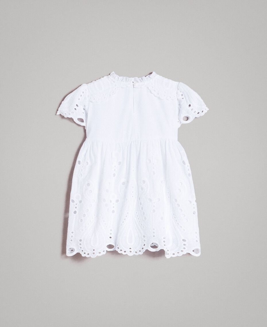 Muslin dress with broderie anglaise embroidery White Child 191GB2620-0S