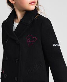 Пальто из сукна с вышивками Черный Pебенок 192GJ2102-04