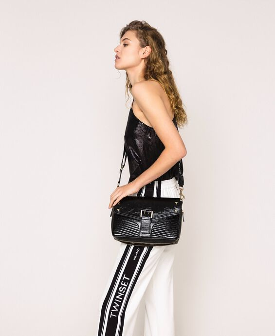 Medium Rebel bag with logo shoulder strap