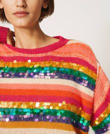"""Wool blend jumper with sequins Multistripe / """"Colour Sequins"""" Woman 202MP3190-05"""