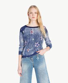Cardigan mit Sternen Sternenprint Frau JS83NA-01