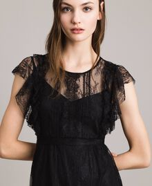 Chantilly lace dress with belt Black Woman 191ST2121-04