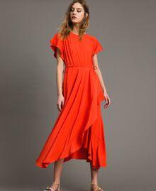 Silk blend long dress Granadine Red Woman 191TT2079-01