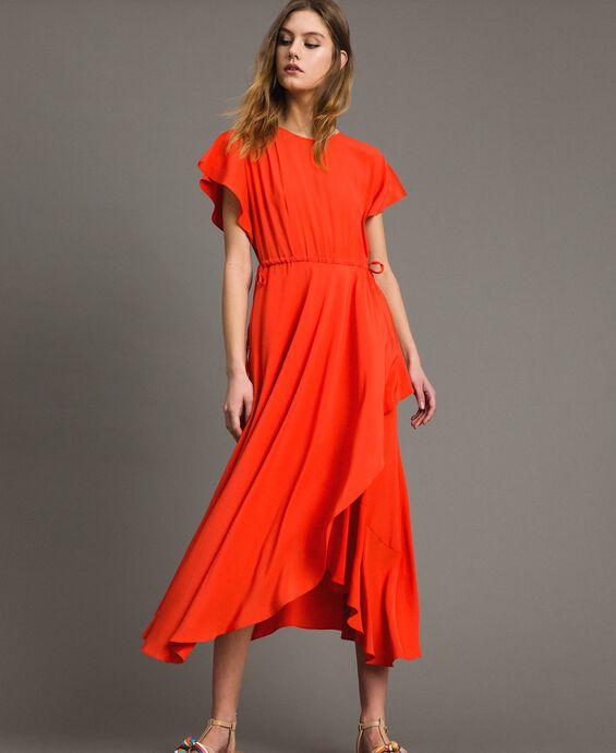 Silk blend long dress