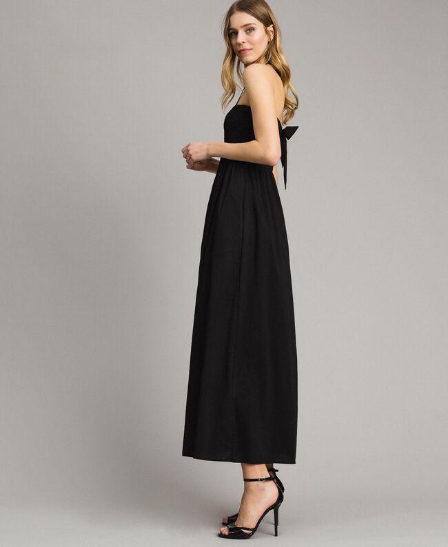 Robe longue en popeline Noir Femme 191LM2CHH-01