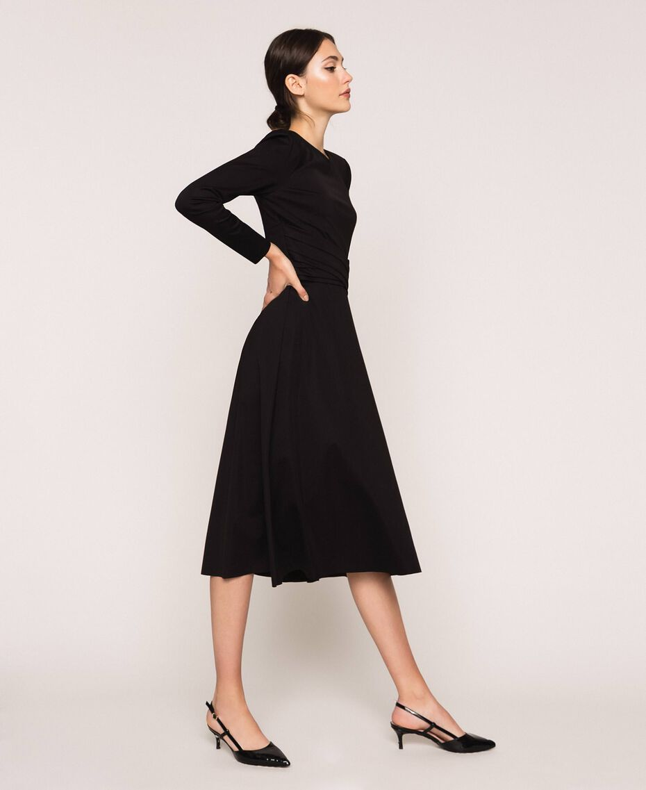 Robe stretch avec ceinture Noir Femme 201ST2141-02
