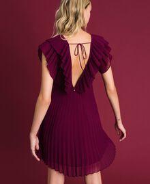 Robe en crêpe georgette plissé Rouge Velours Femme 192TT2071-03