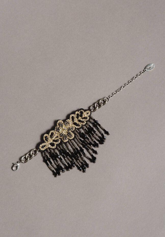 Armband mit Blume und Perlenfransen