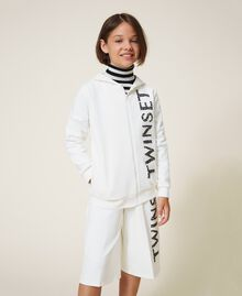 Maxi scuba sweatshirt with embroidery Off White Child 202GJ2700-01