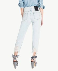 Girlfriend-Jeans Denimblau Frau JS82WR-03