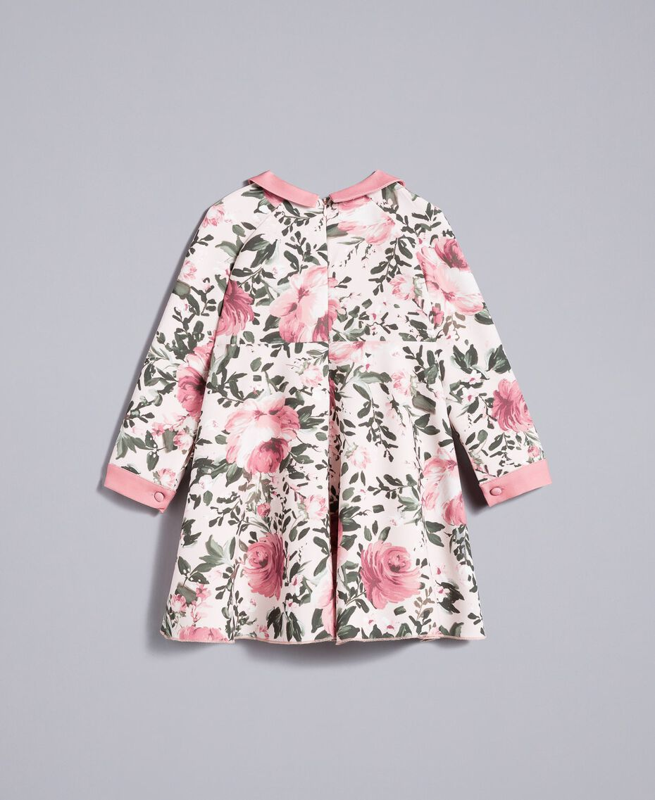 "Printed crêpe dress ""Blush"" Pink with Rose Print Child FA82D1-0S"