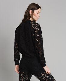 Macramé lace bomber Black Woman 191TP2250-03