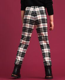 "Wool blend chequered trousers ""Snow"" White Tartan Jacquard Child 192GJ2692-03"