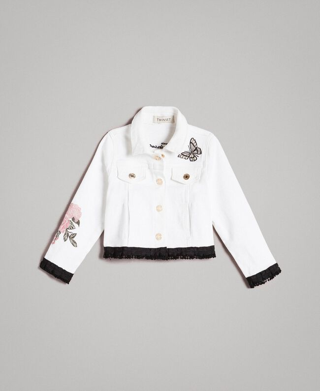 Bull stretch jacket with embroidery Off White Child 191GB2581-01