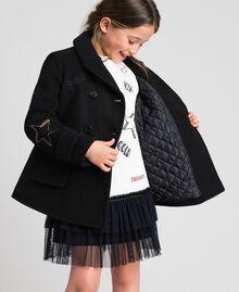 Пальто из сукна с вышивками Черный Pебенок 192GJ2102-01
