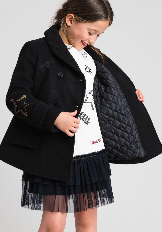 Пальто из сукна с вышивками