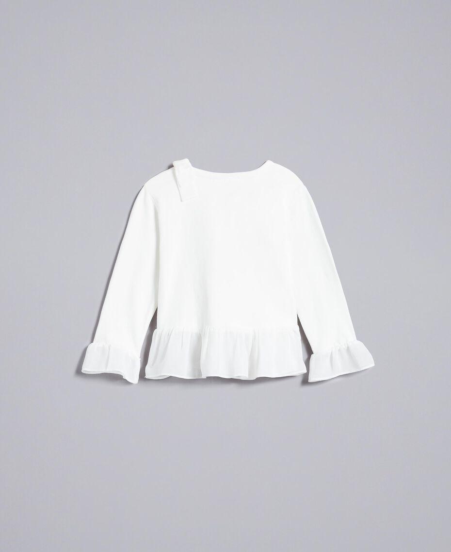 T-shirt en coton avec strass Off White Enfant FA822A-0S