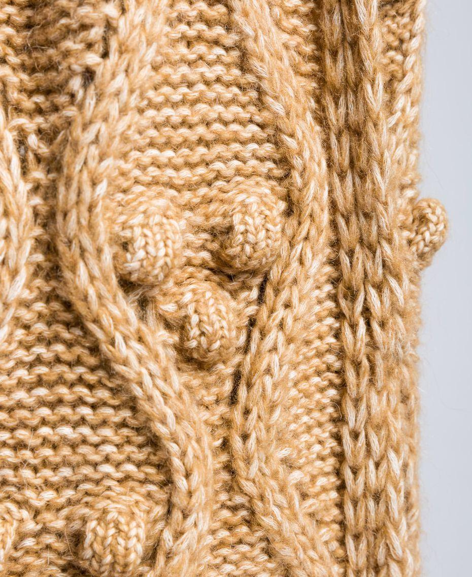 Schal aus meliertem Garn Camel Frau AA8P1A-02