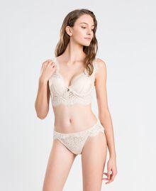 Slip brésilien en dentelle festonnée Blanc Femme IA8C77-0S