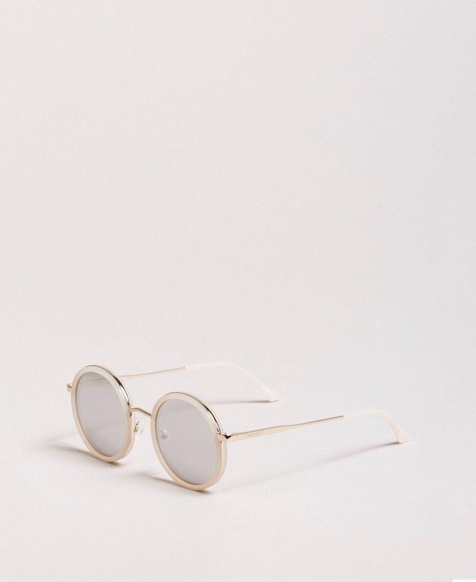 Runde Sonnenbrille Schwarz Frau 999TZ4011-01