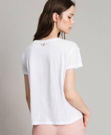 T-Shirt mit Spitze Weiß Frau 191LB2CAA-03