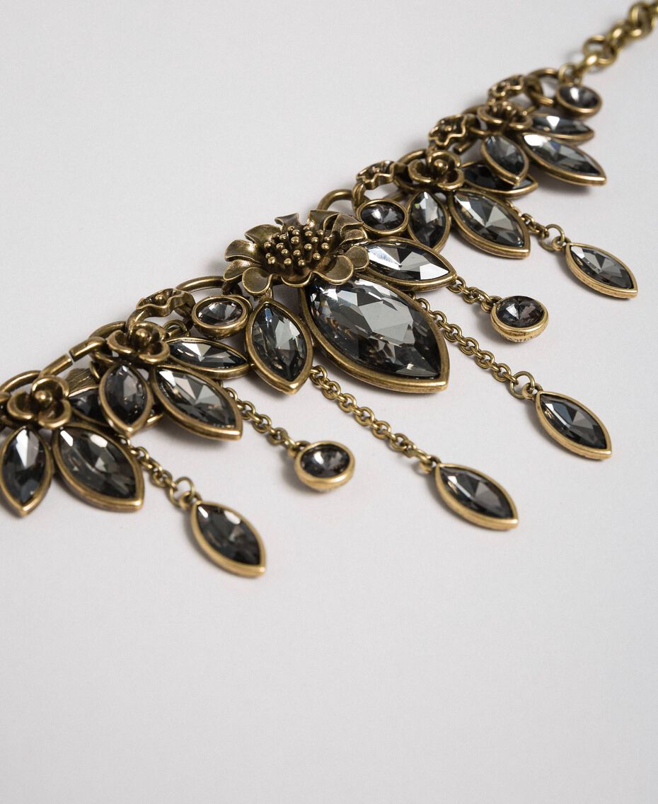 Choker with teardrop stones Black Diamond Grey Woman 192TO5319-02