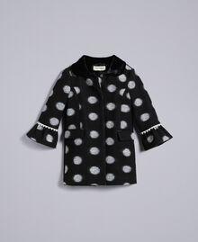 Manteau en drap à pois Imprimé Pois Noir / Blanc Cassé Enfant FA82CA-01