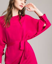 "Silk blend tunic dress ""Anemone"" Fuchsia Woman 191TP2147-04"