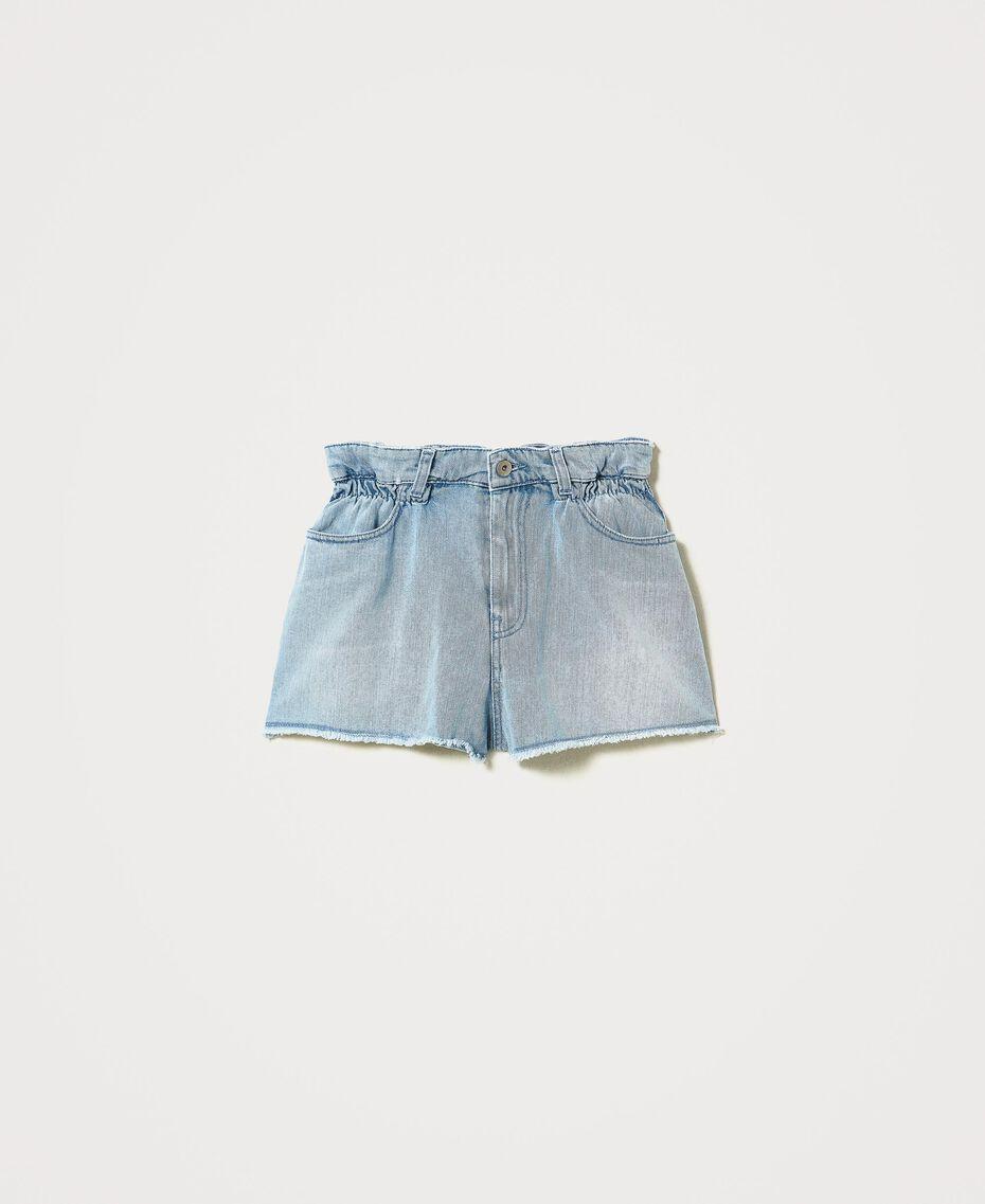 Short en jean Denim Moyen Clair Femme 211MT2332-0S