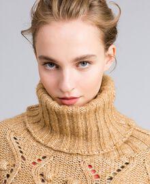 Cappa in maglia mélange Camel Donna PA83LA-04