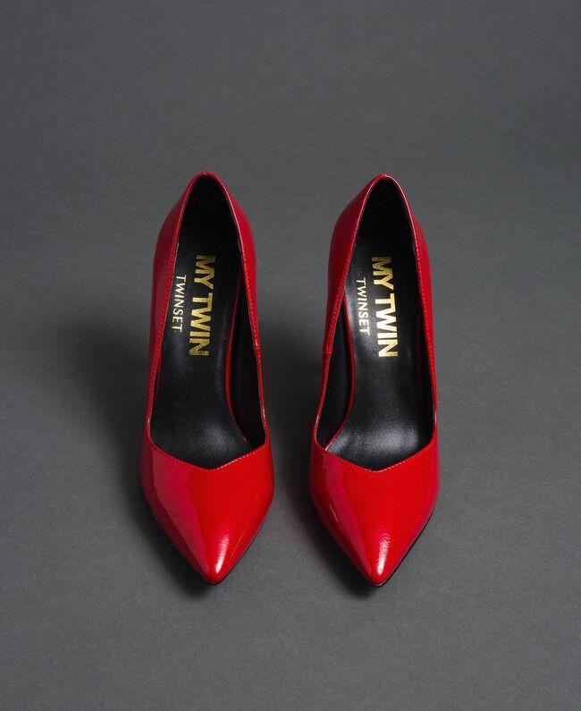 Escarpins vernis Rouge Coquelicot Femme 192MCP038-05