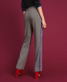 Houndstooth palazzo trousers Lily Houndstooth / Creme Caramel Woman 192MT2051-03