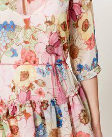 """Платье с цветочным принтом Принт Большой Цветок Розовый """"Розовая фуксия"""" женщина 211LM2JKK-04"""
