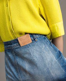 Jupe en denim à effet dip-dye Tons Délavés Femme 191TT2054-05