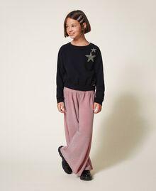 Weite Hose aus Lurex Lurex Matt Pink Kind 202GJ2110-0T