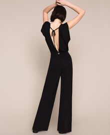 Jumpsuit with side slits Black Woman 201LM2EDD-03