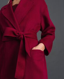 Double wool blend coat Beet Red Woman 192TP2312-04