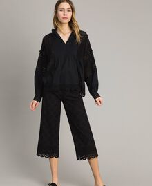 Broderie anglaise trousers Black Woman 191TT2045-0T