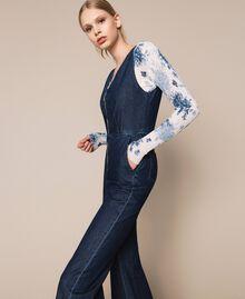 Denim jumpsuit with zip Denim Blue Woman 201MT2196-02