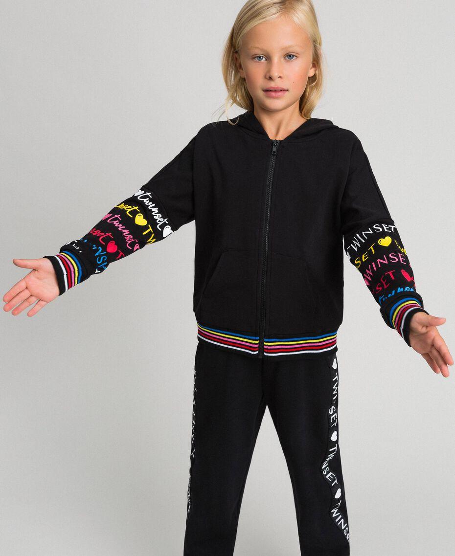Printed logo sweatshirt Black Child 999GJ2012-02