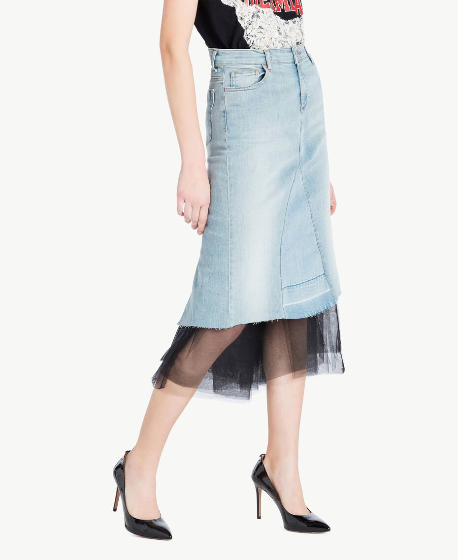 Denim skirt Denim Blue Woman YS82QY-02