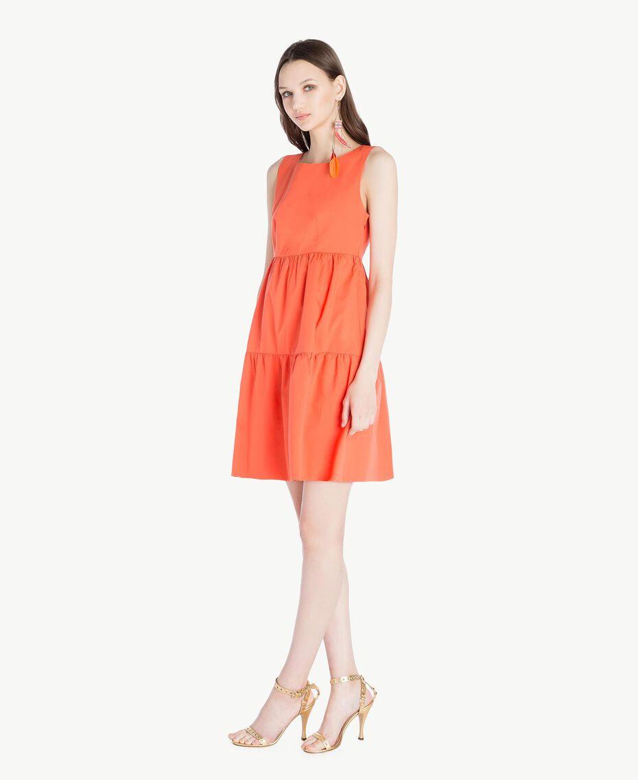 Poplin dress Orange Woman TS821F-02